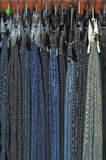 Various models of jeans Stock Photo