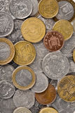 Various money coins background