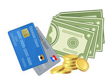 Various money Royalty Free Stock Images