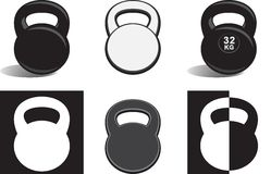 Monochrome kettlebells Royalty Free Stock Photography