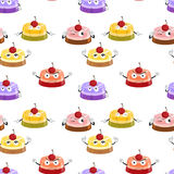 Various moods of cake. Illustration of an array of cakes with various moods Stock Photo