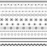 Various motifs in black and white. Various motifs with black and white vector illustration