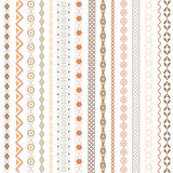 Various motifs colored. Different vertical model, brown colors stock illustration