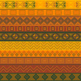 Various motifs in different color. Brown and yellow vector illustration