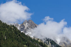 various mountains with clouds Stock Photography