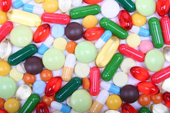Various multicolor pills and capsules Royalty Free Stock Photography