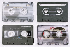 Various music cassettes Royalty Free Stock Photo