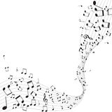 Various music notes on stave,  Stock Photo