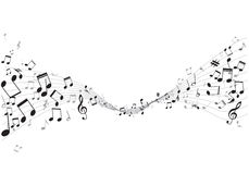 Various music notes on stave,  Stock Photos