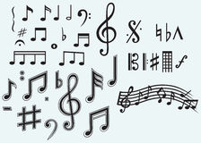 Various musical notes Royalty Free Stock Photography