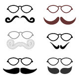 Various mustaches Stock Images
