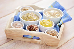 Various mustards Stock Image