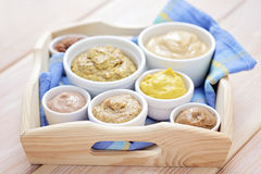 Various mustards Royalty Free Stock Photos