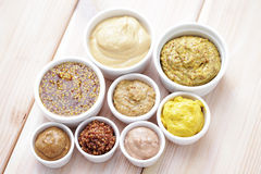 Various mustards Stock Photos