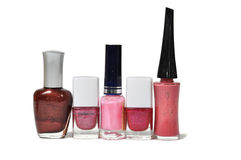 Various nailpolish bottles Stock Photography