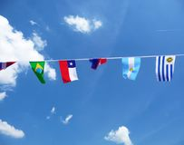 Various National Flags Royalty Free Stock Images