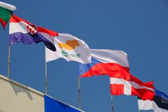 Various national flags Royalty Free Stock Photo