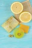 Various natural soaps Royalty Free Stock Photography