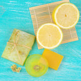 Various natural soaps Stock Photo