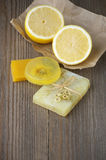 Various natural soaps Stock Photography