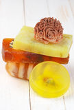 Various natural soaps Stock Images