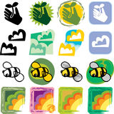 Various Nature Icons. Four nature-related drawings for backgrounds, buttons and icons Stock Images