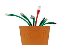 Various network cable Royalty Free Stock Images