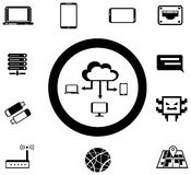 Various IT and network media icon and app collecti Stock Image