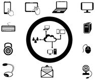 Various IT and network media icon and app collecti Royalty Free Stock Photography