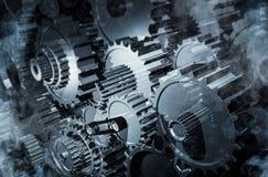 Various new gears industry. Various gears metal industry concept
