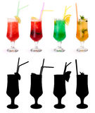 Various non-alcoholic cocktails Royalty Free Stock Photography