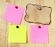 Various note paper Royalty Free Stock Image