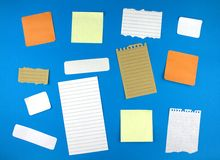 Various note papers Royalty Free Stock Image