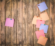 Various note papers Royalty Free Stock Photo