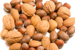 Various nuts Royalty Free Stock Photos