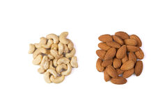 Various nuts isolated Stock Photos