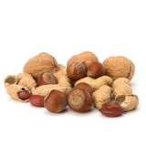 Various nuts mix Stock Photography