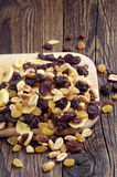 Various nuts and raisins Royalty Free Stock Image