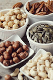 Various nuts Stock Photography