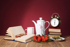 Various objects with strawberries Royalty Free Stock Photos