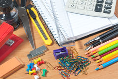 Various office accessories Stock Image