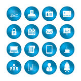 Various office icons Royalty Free Stock Image