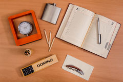 Various office personal things Stock Image