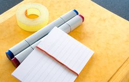 Various Office Supplies royalty free stock image