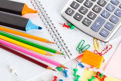 Various office tools Royalty Free Stock Photo