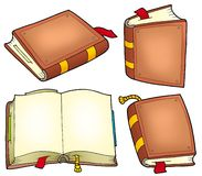Various old books collection. Color illustration Royalty Free Stock Image