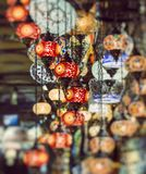 Various old lamps on the Grand Bazaar in Istanbul Royalty Free Stock Photography