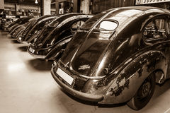 Various Oldtimer standing in a row Royalty Free Stock Photos