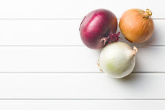 Various onions Royalty Free Stock Photo