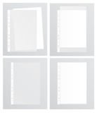 Various options for paper files. Vector illustration Royalty Free Stock Images